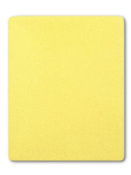 Froté prestieradlo do postieľky žltá