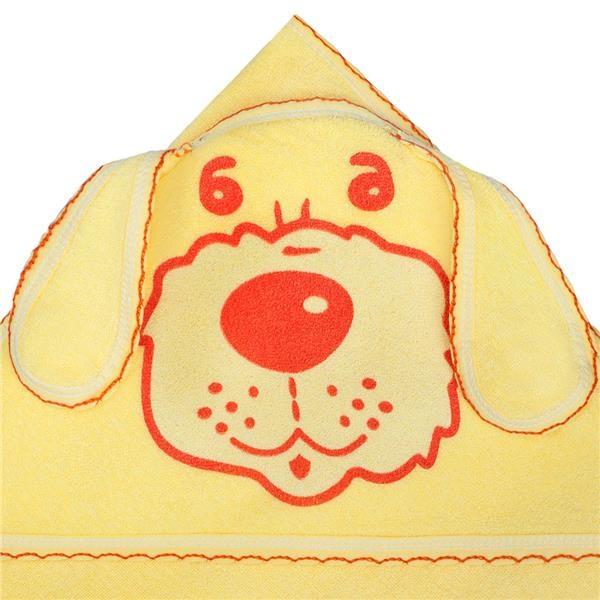 Detská froté osuška psík 100x100 žltá
