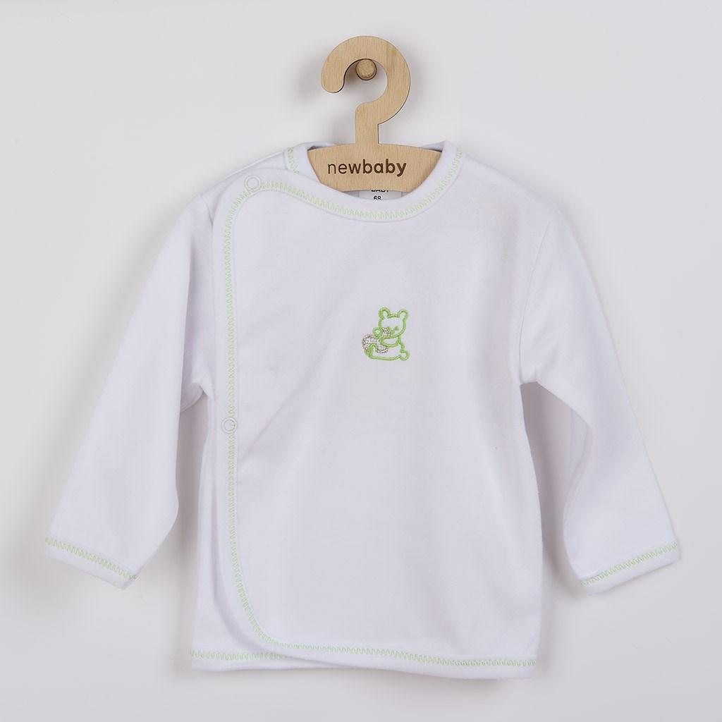 Dojčenská košieľka s vyšívaným obrázkom New Baby zelená-62 (3-6m)