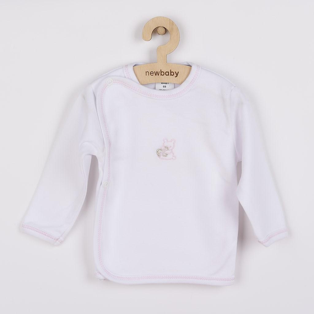 Dojčenská košieľka s vyšívaným obrázkom New Baby ružová-62 (3-6m)