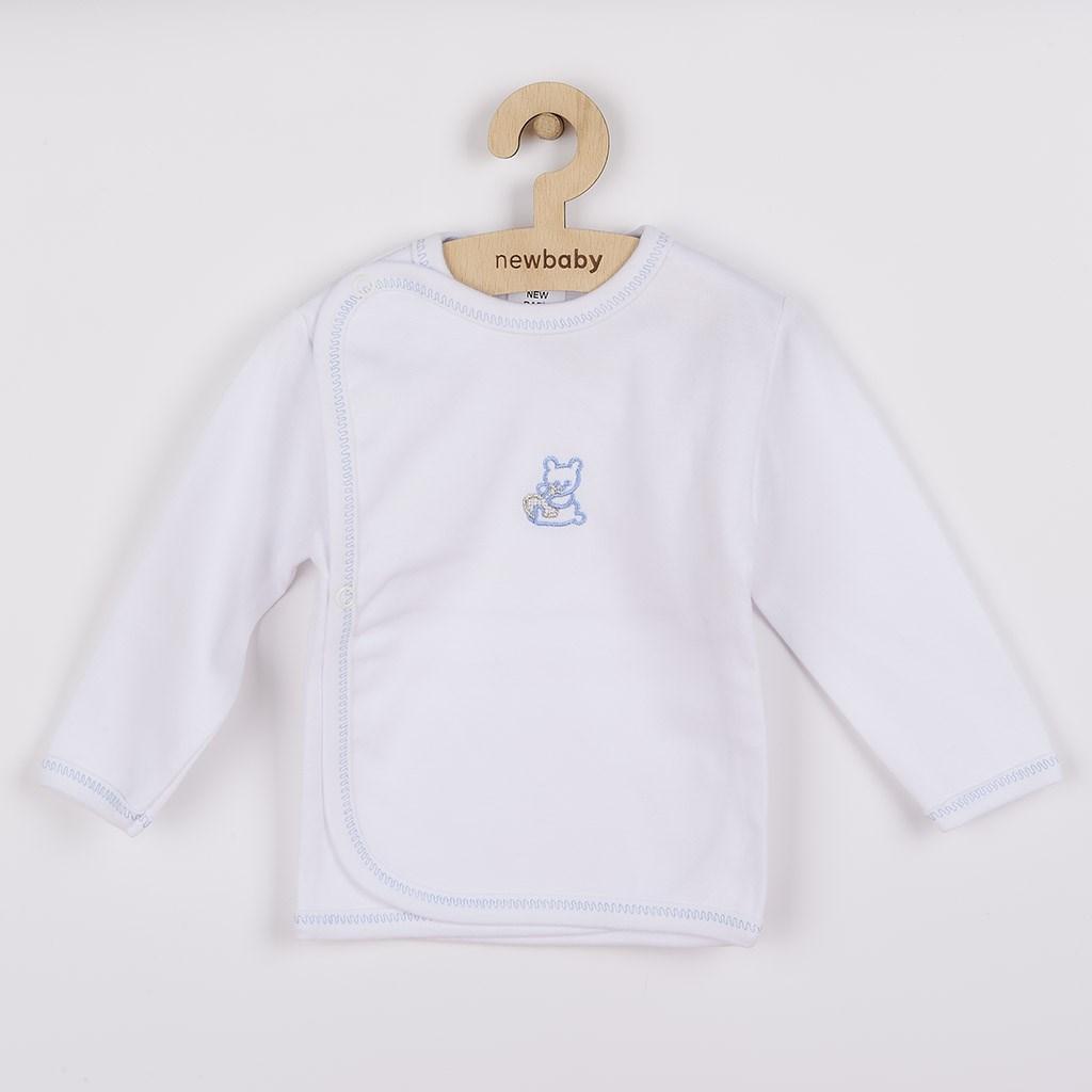 Dojčenská košieľka s vyšívaným obrázkom New Baby modrá-62 (3-6m)