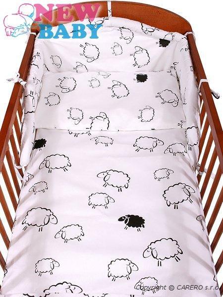 3-dielne posteľné obliečky New Baby 90/120 cm Ovečky biele