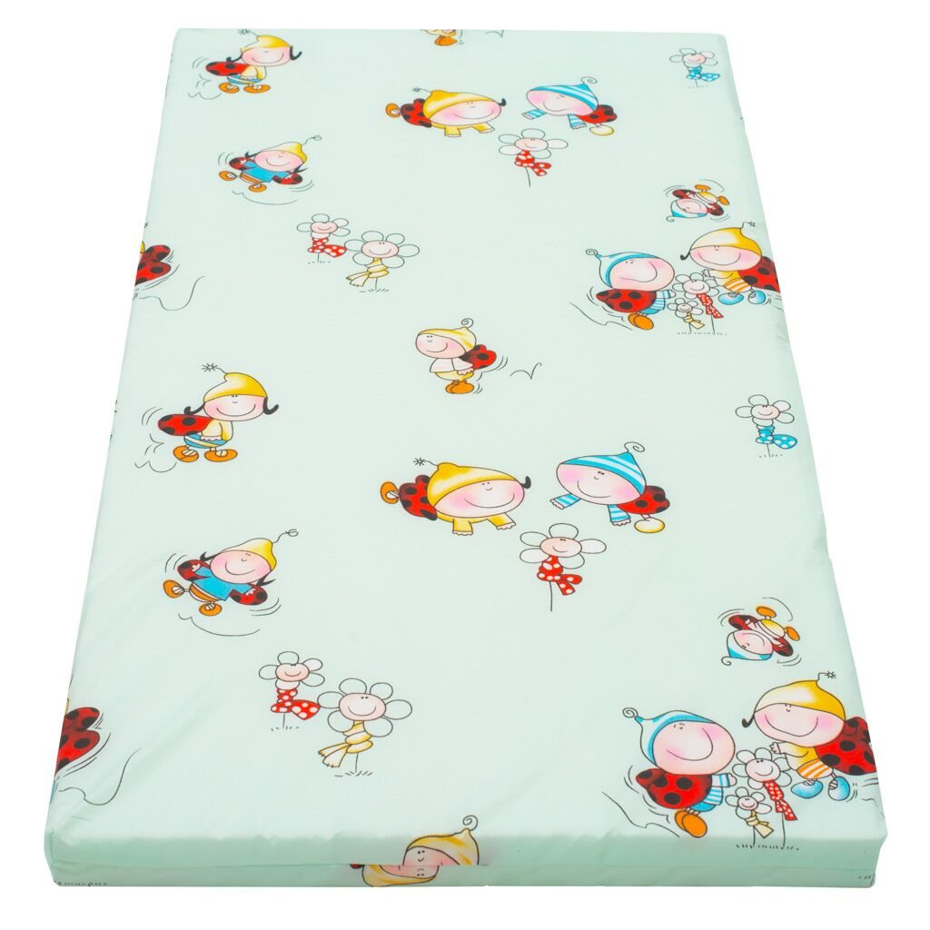 Detský penový matrac New Baby 120x60 zelený - rôzne obrázky
