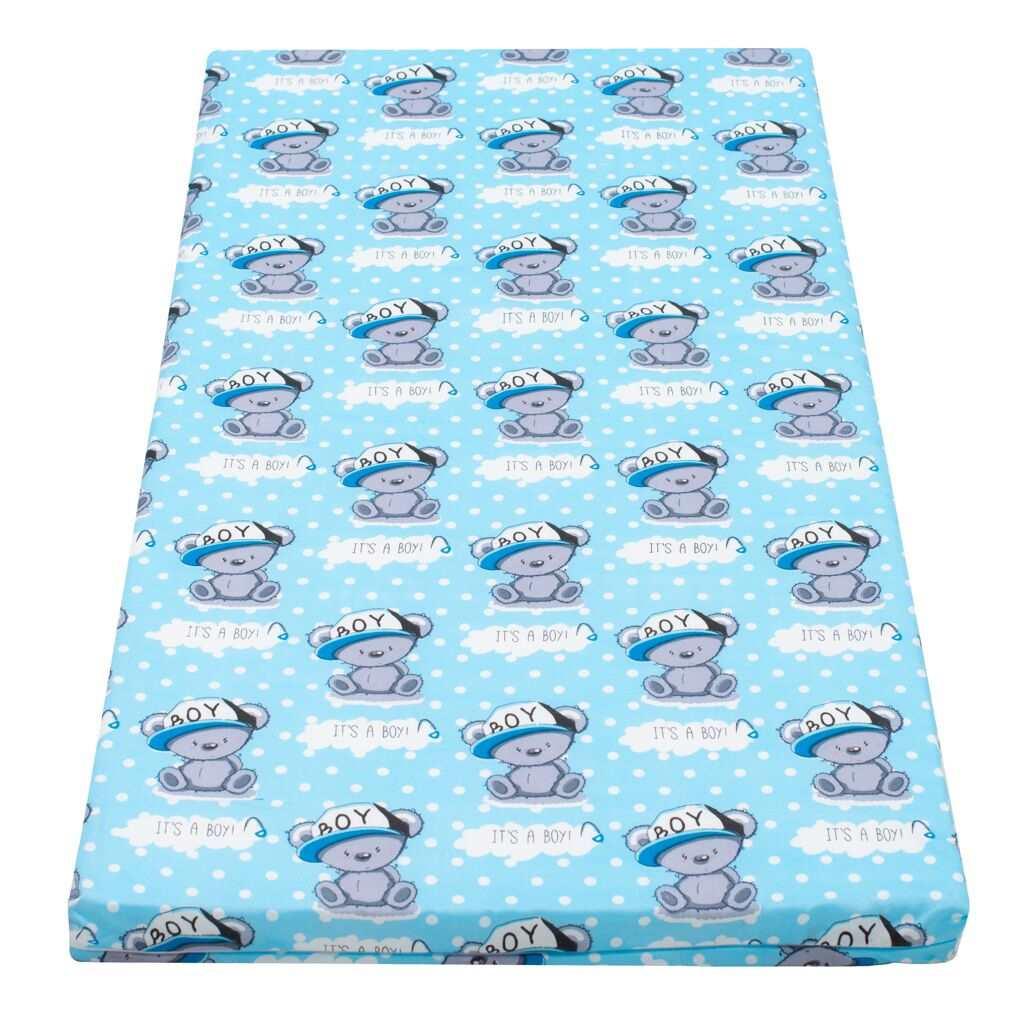 Detský penový matrac New Baby 120x60 modrý - rôzne obrázky
