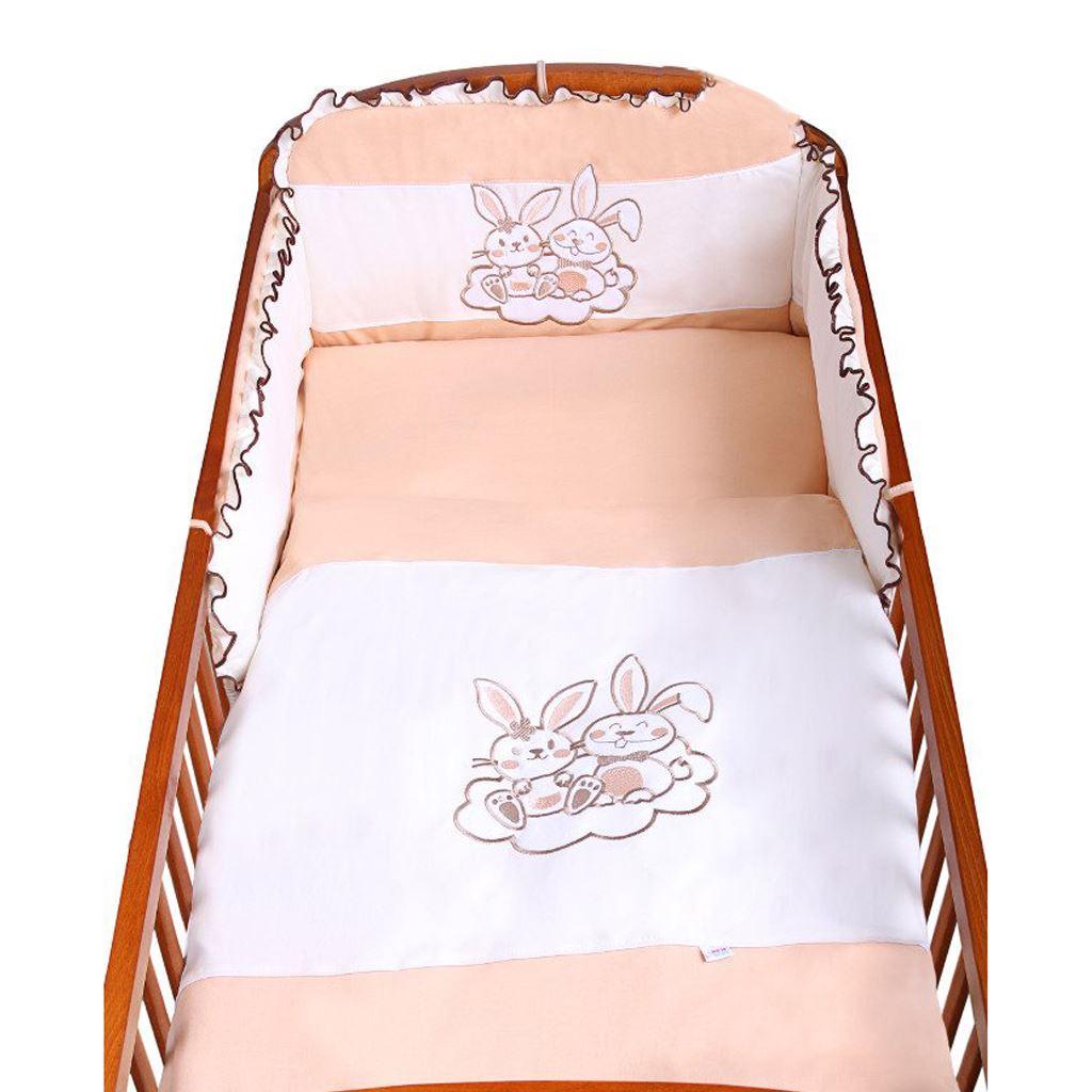 3-dielne posteľné obliečky New Baby Bunnies 100x135 hnedé