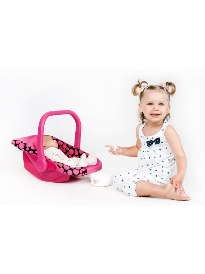 Autosedačka pre bábiky PlayTo Anetka ružová