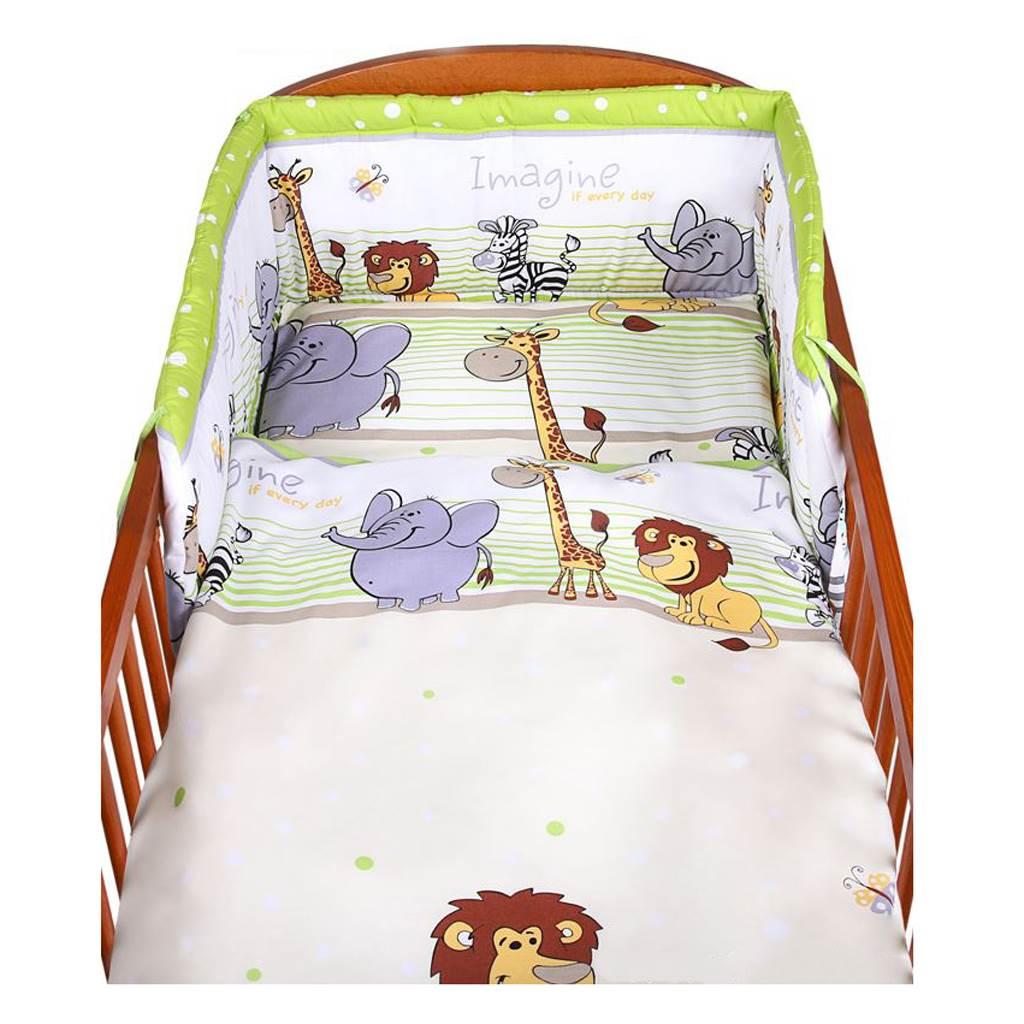 2-dielne posteľné obliečky New Baby 100/135 cm zelené safari
