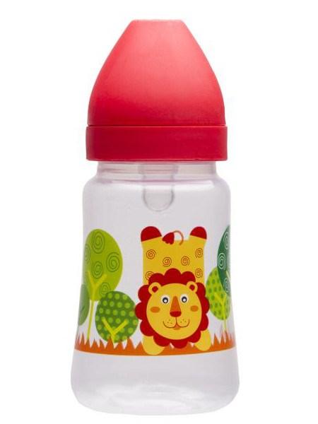 Fľaša so širokým hrdlom Akuku 250 ml červená