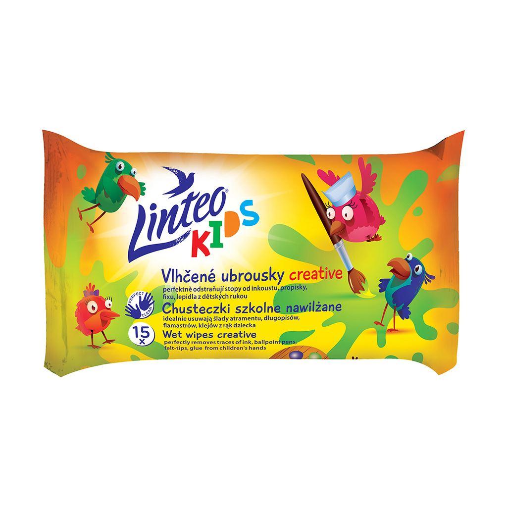 Vlhčené obrúsky Linteo Baby Kids 15ks