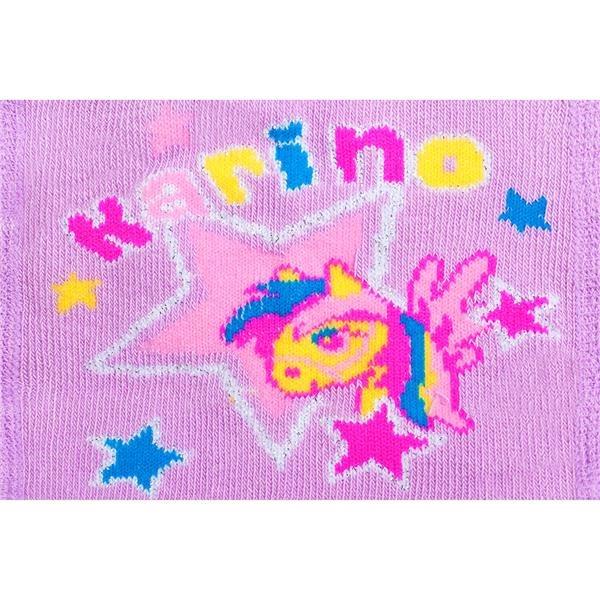 Bavlnené pančucháčky New Baby 3xABS fialové karino