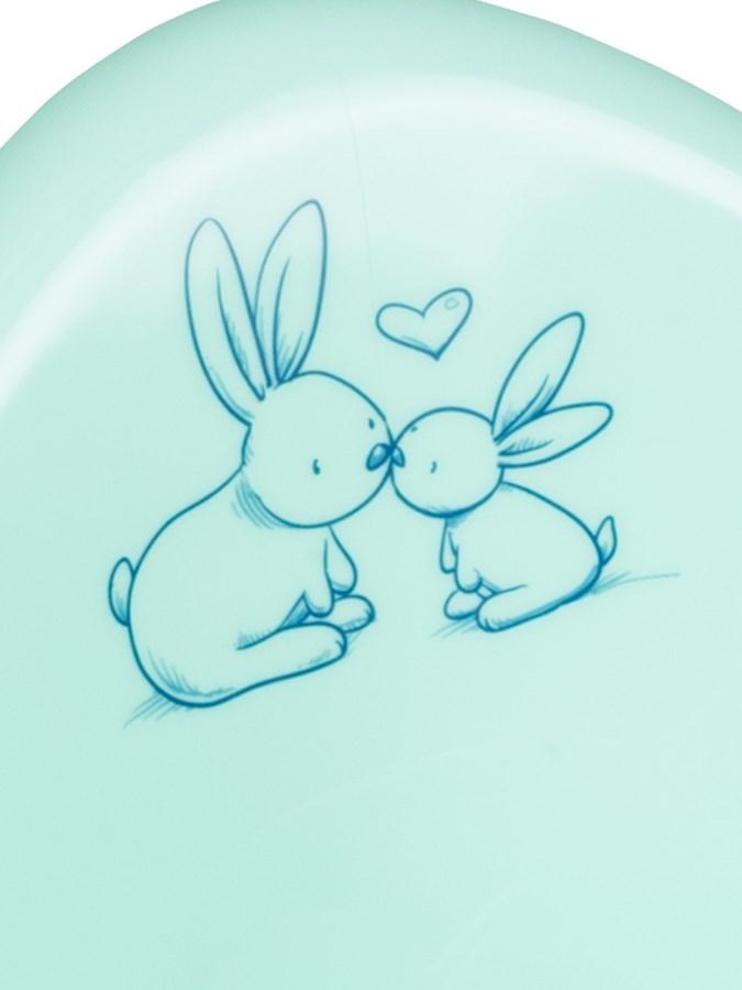 Hrajúci detský nočník protišmykový Bunny mätový