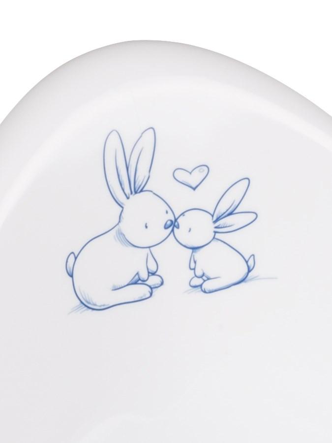 Hrajúci detský nočník protišmykový Bunny biely