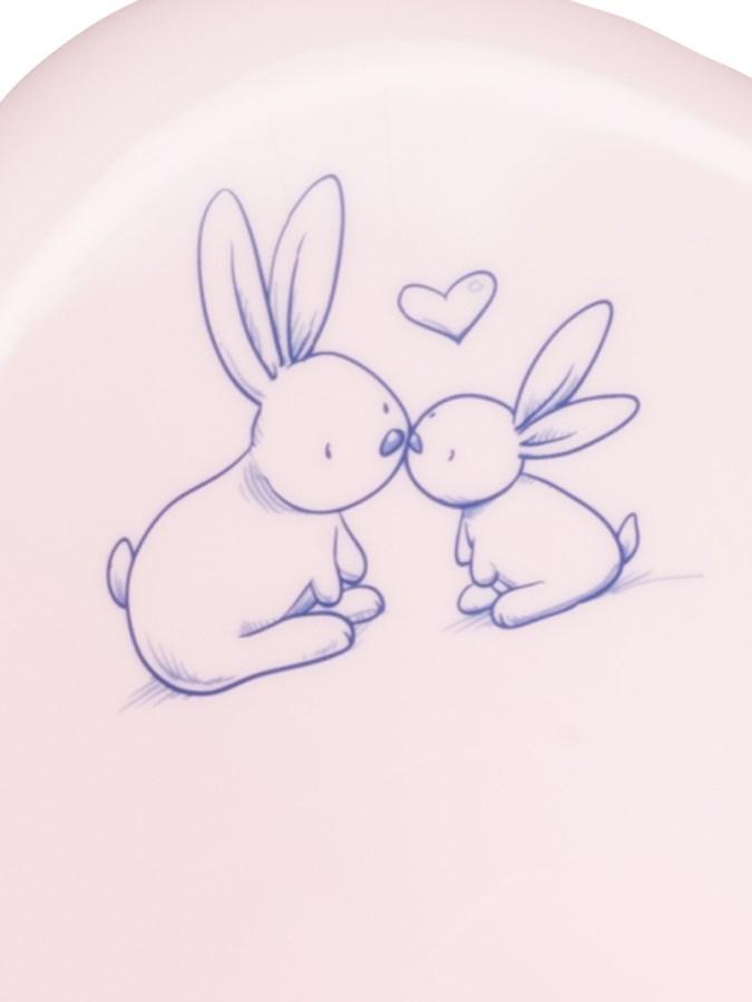 Hrajúci detský nočník Bunny ružový