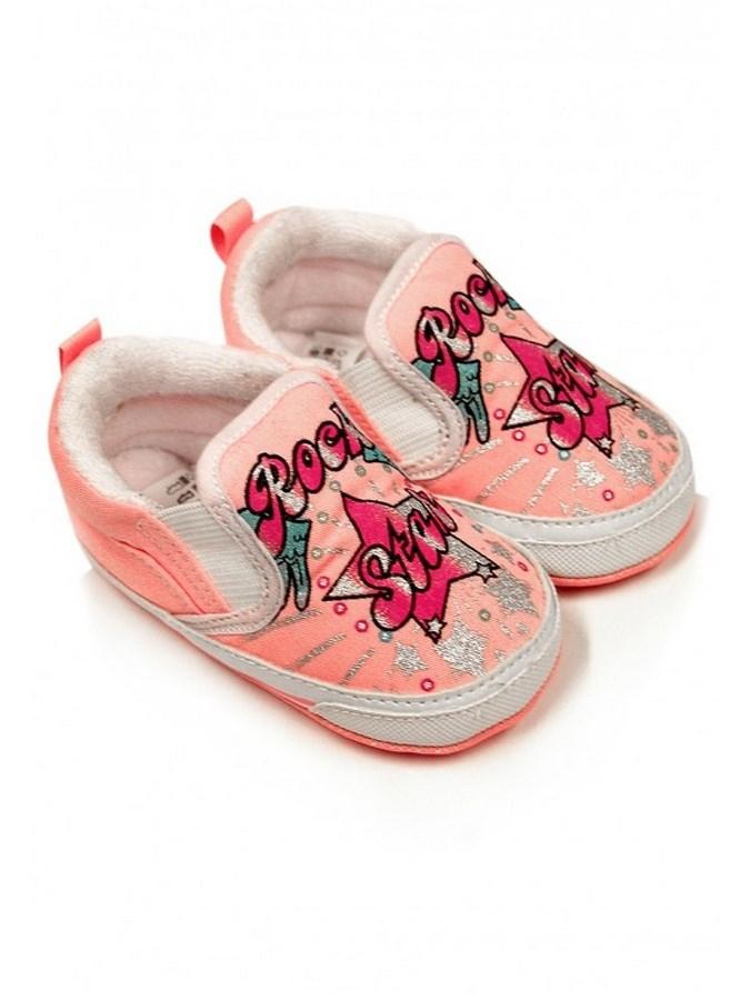 Detské capáčky Bobo Baby 12-18m ružové rock star