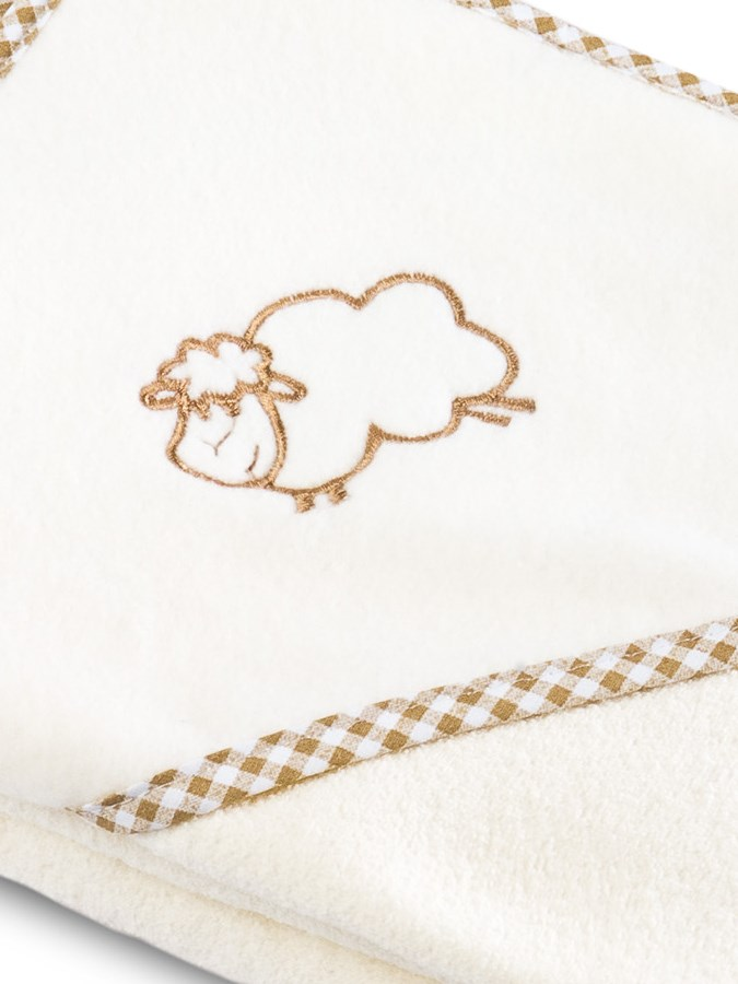 Detská osuška Sensillo Ovečka 80x80 cm béžova
