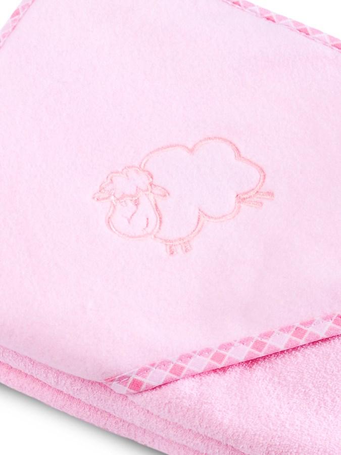Detská osuška Sensillo Ovečka 80x80 cm ružová