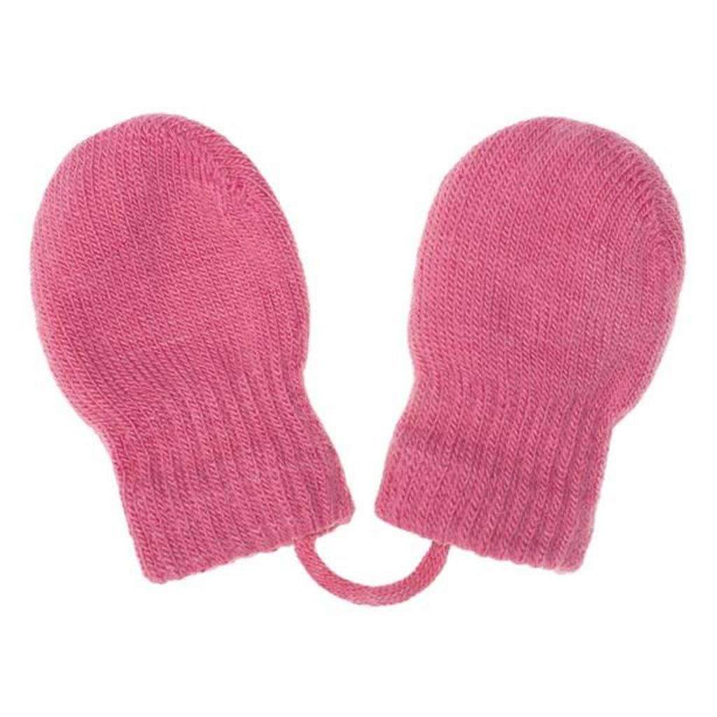 Detské zimné rukavičky New Baby ružové Veľkosť: 56 (0-3m)