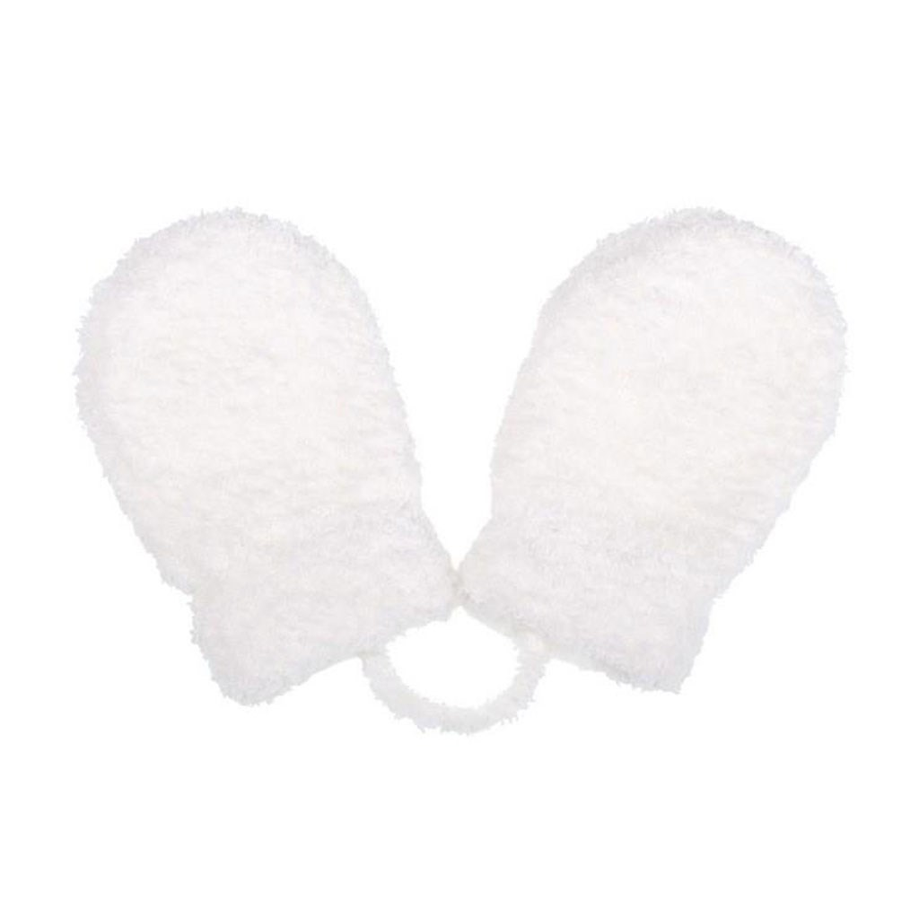 Detské zimné  rukavičky New Baby so šnúrkou bielé