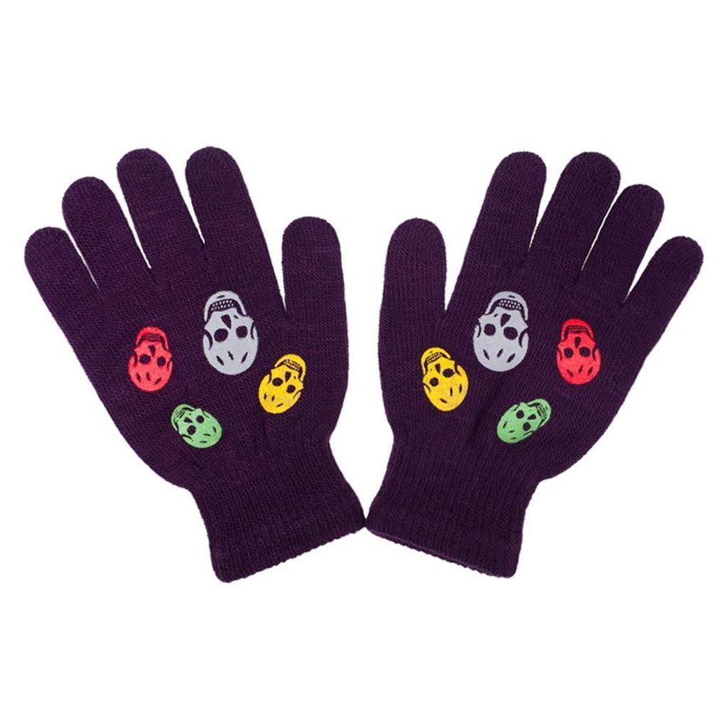 Detské zimné rukavičky New Baby Girl fialové