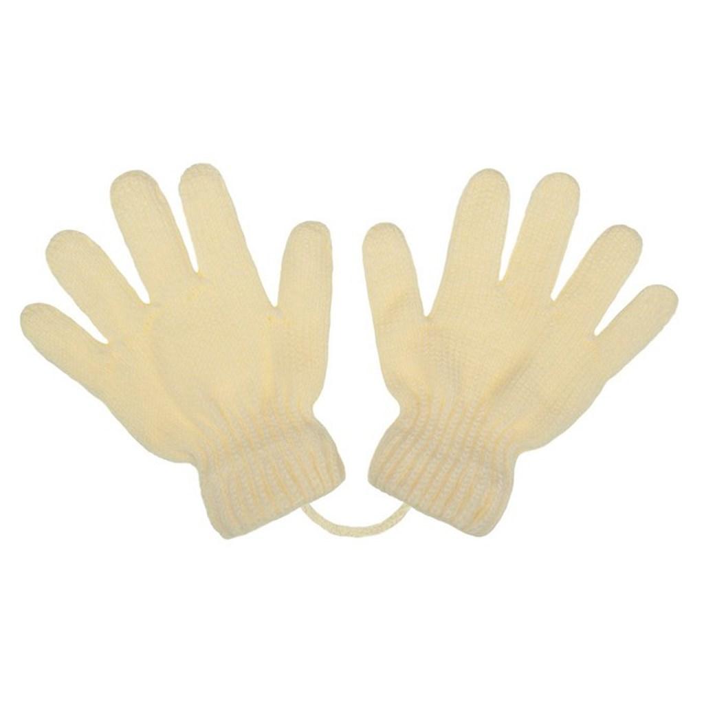 Detské zimné rukavičky New Baby krémové