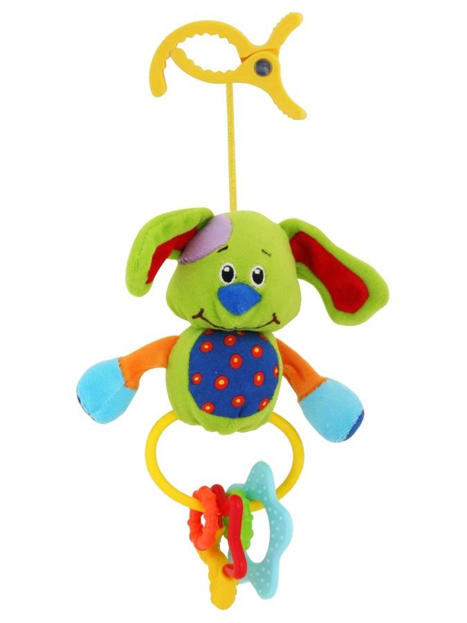 Detská plyšová hračka s hrkálkou Baby Mix psík