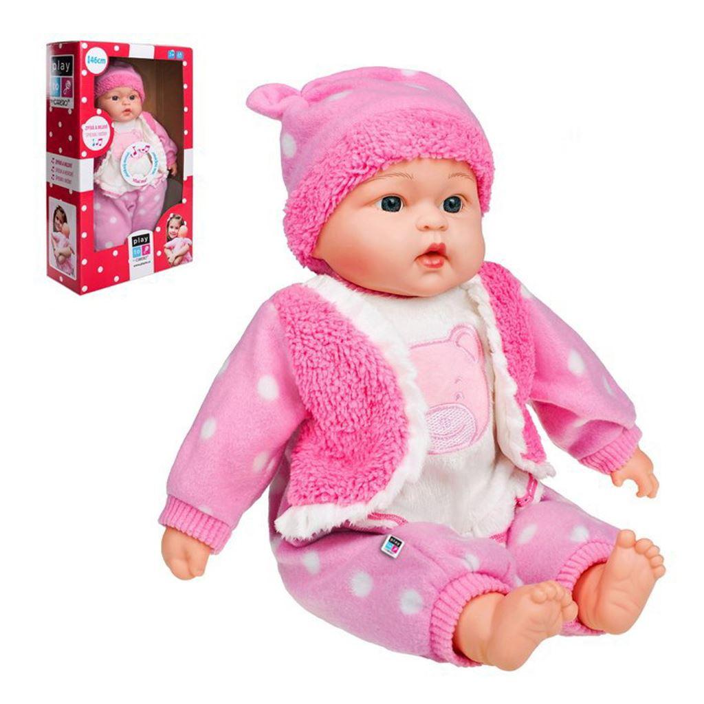 Česky hovoriaca a spievajúca detská bábika PlayTo Anička 46 cm, Ružová