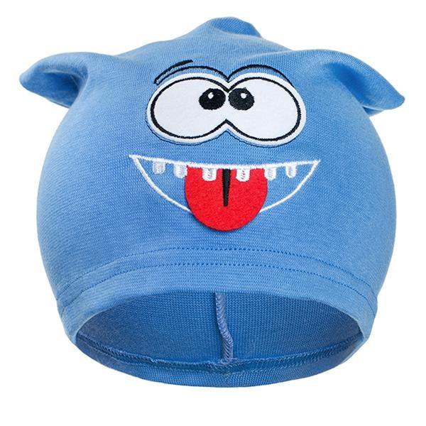 Jesenná detská čiapočka New Baby smejko bledo modrá