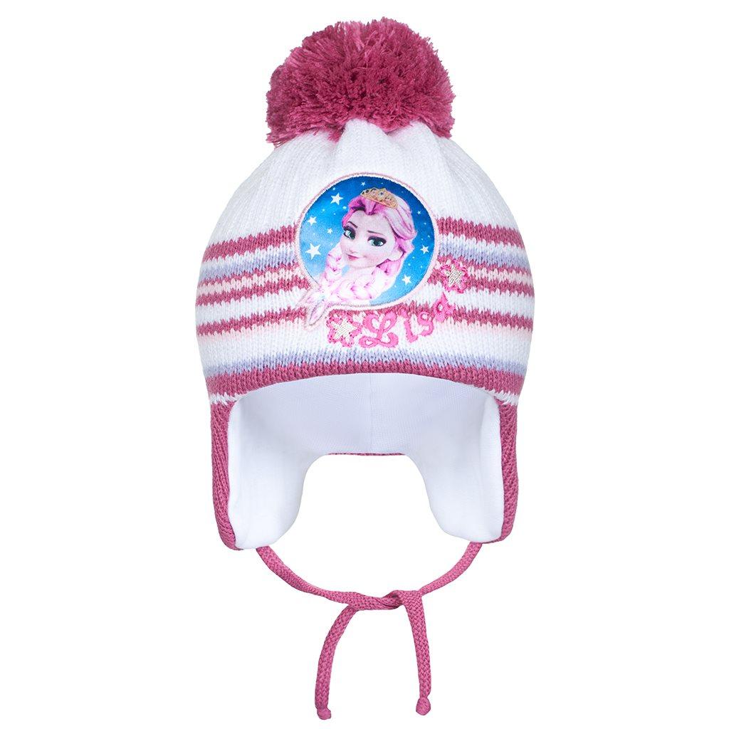 Zimná detská čiapočka New Baby Lisa tmavo ružová 104 (3-4r)