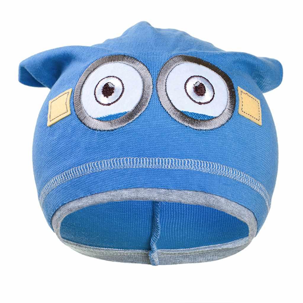 Jesenná detská čiapočka New Baby mimoň bledo modrá
