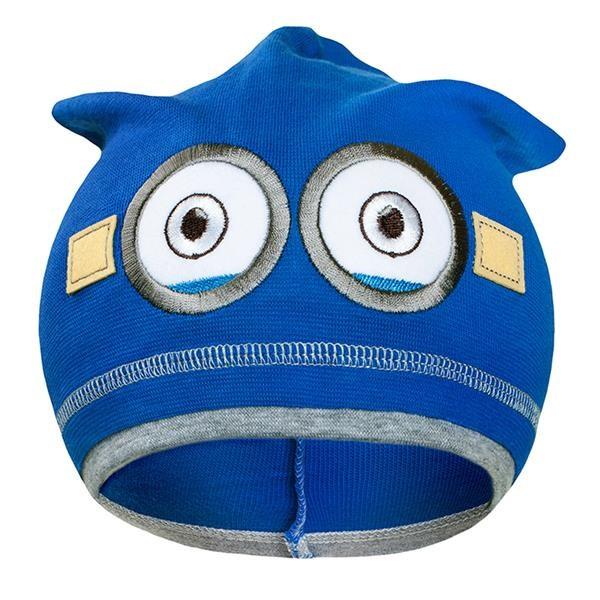 Jesenná detská čiapočka New Baby mimoň tmavo modrá
