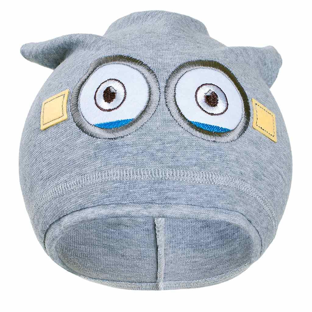 Jesenná detská čiapočka New Baby mimoň sivá 110 (4-5r)