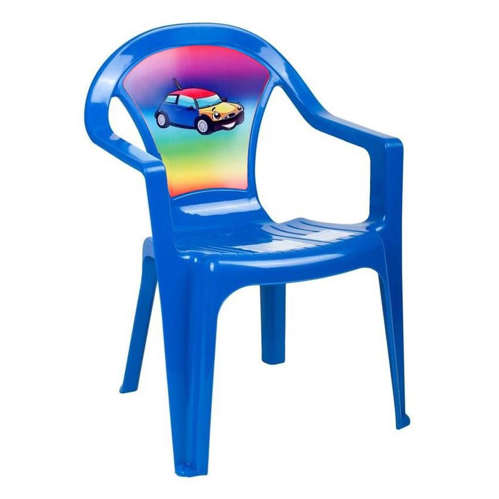 11fcd272fa46 Detský záhradný nábytok - Plastová stolička modrá empty
