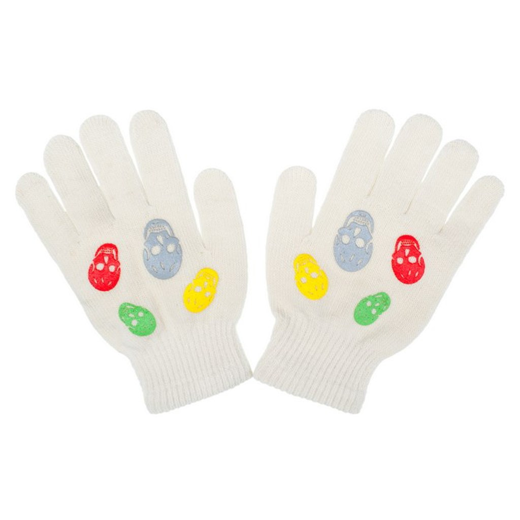 Detské zimné rukavičky New Baby Girl cappuccino-122 (6-7 rokov)