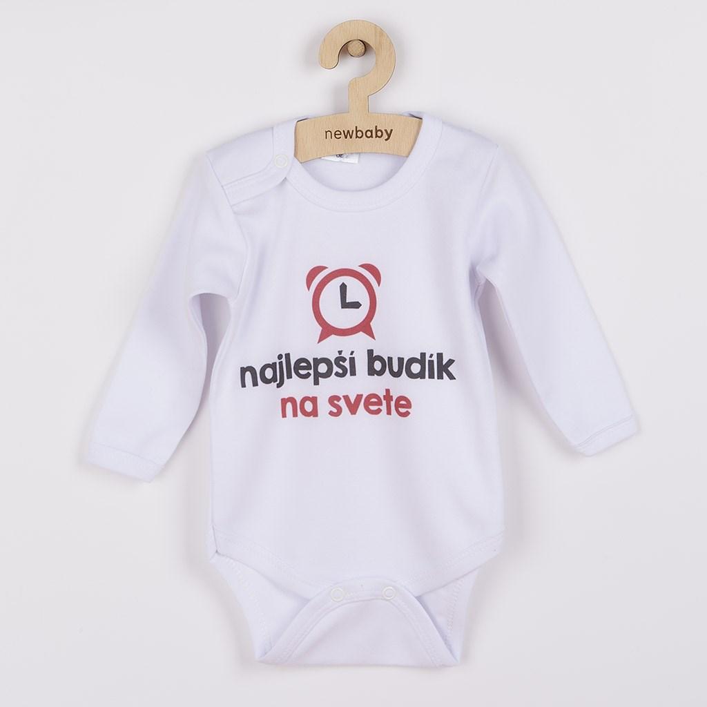 Body s potlačou New Baby najlepší budík na svete-56 (0-3m)
