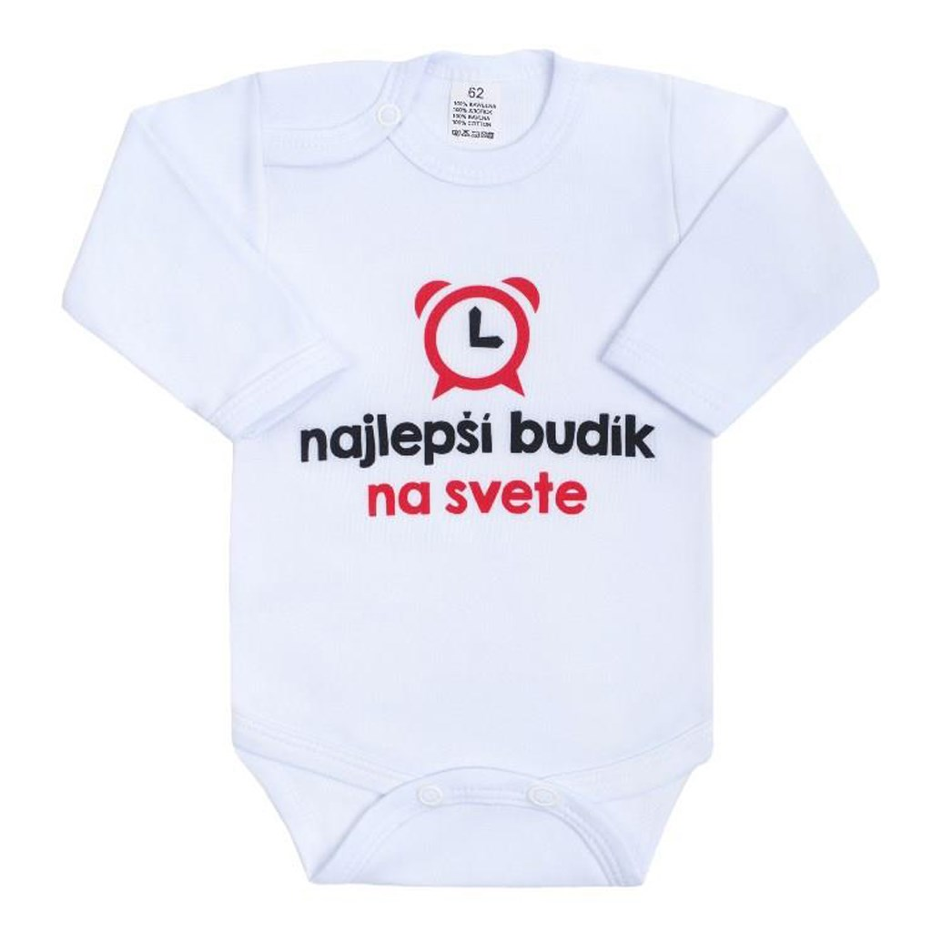 Body s potlačou New Baby najlepší budík na svete