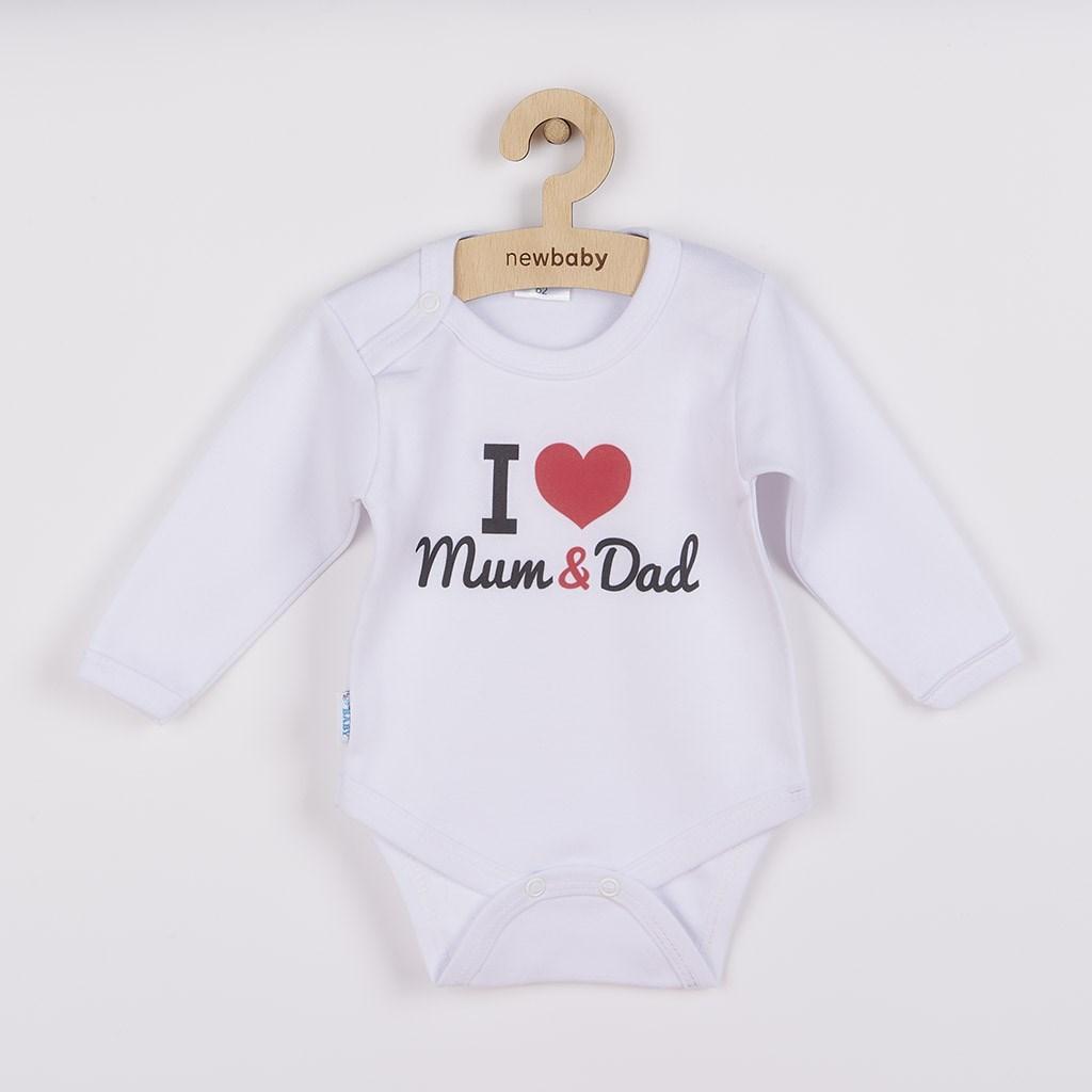 Body s potlačou New Baby I Love Mum and Dad 50