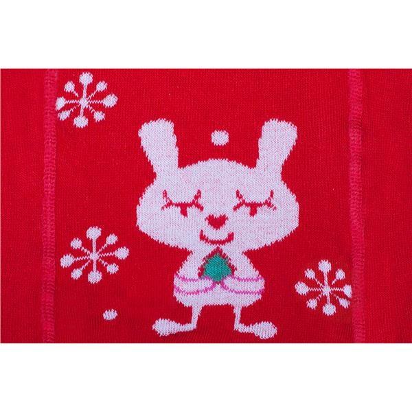 Vianočné bavlnené pančucháčky New Baby červené s vločkami a mačičkou 92 (18-24m)