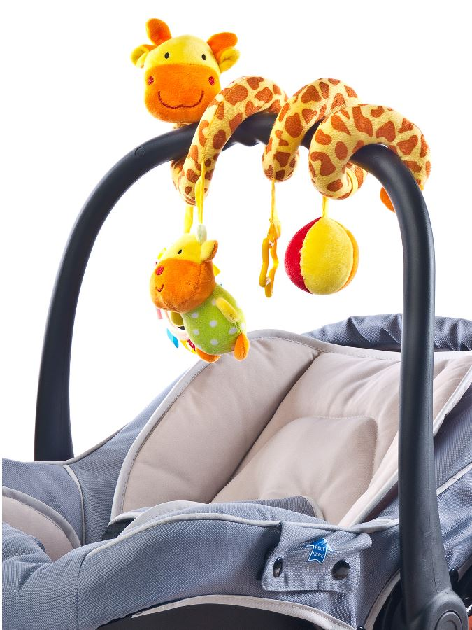 Hračka na postieľku špirála Sensillo Žirafa