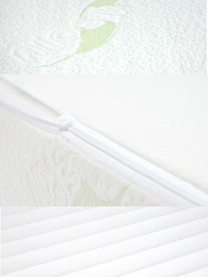 Dojčenský vankúš - klin Sensillo biely Luxe s aloe vera 60x38 cm