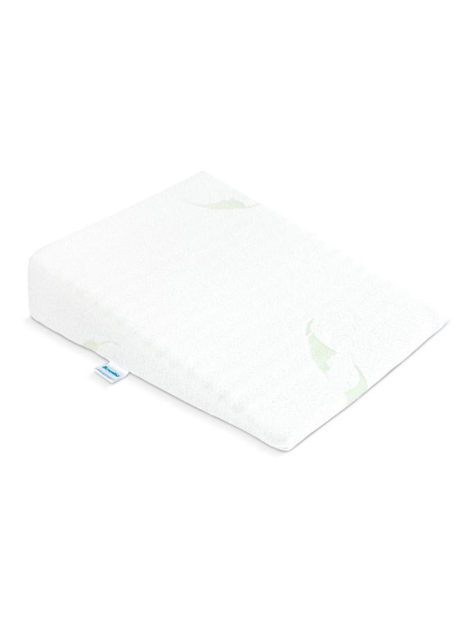 Dojčenský vankúš - klin Sensillo biely Luxe s aloe vera 30x37 cm do kočíka