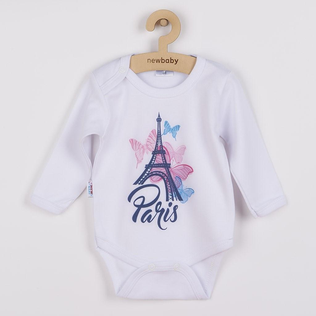 Dojčenské body s dlhým rukávom New Baby Towns ružové-62 (3-6m)