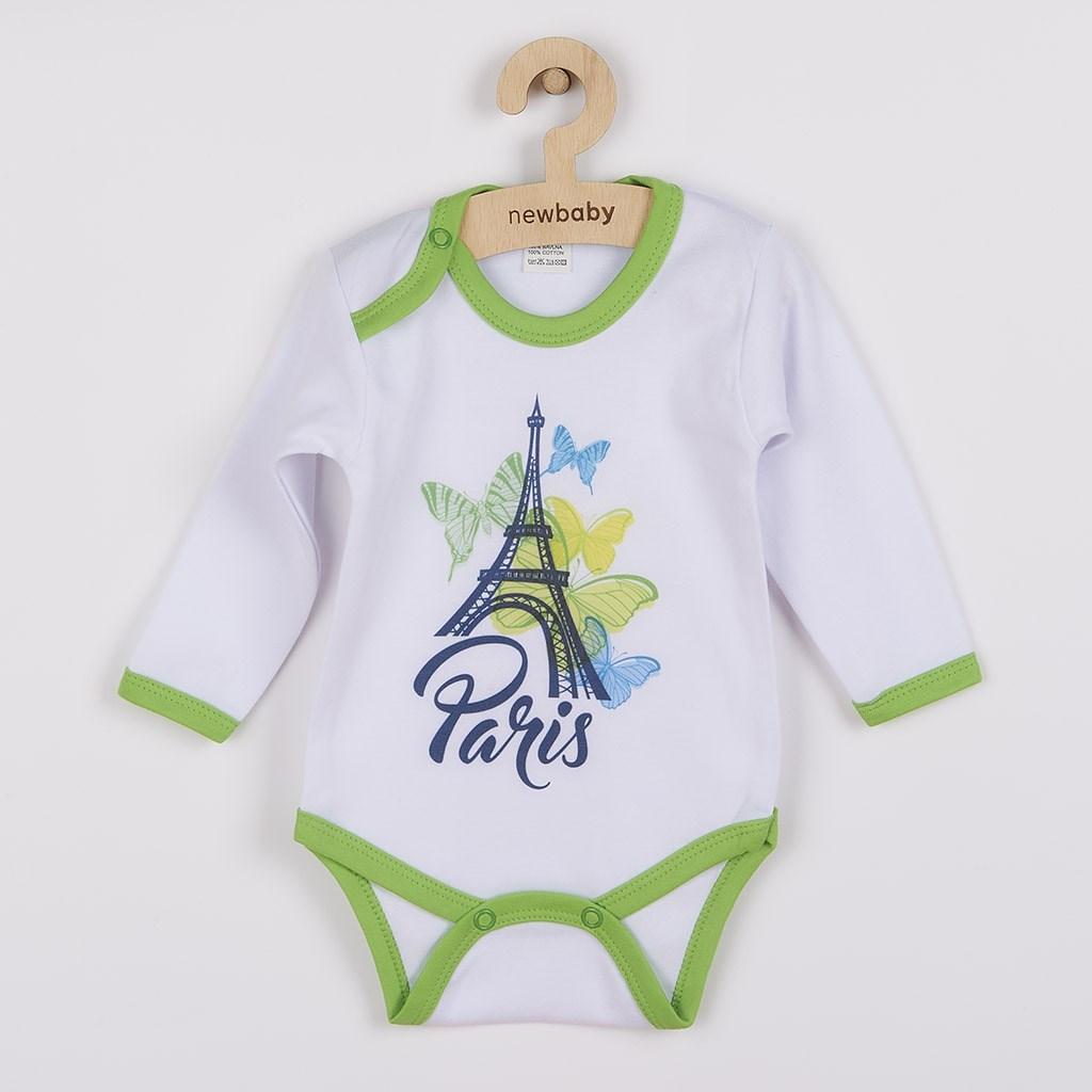 Dojčenské body s dlhým rukávom New Baby Towns zelené, 80 (9-12m), Zelená