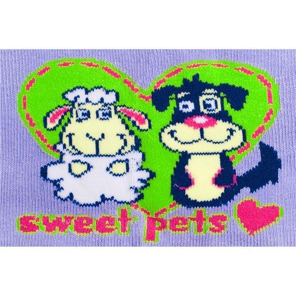 Bavlnené pančucháčky New Baby fialové pets