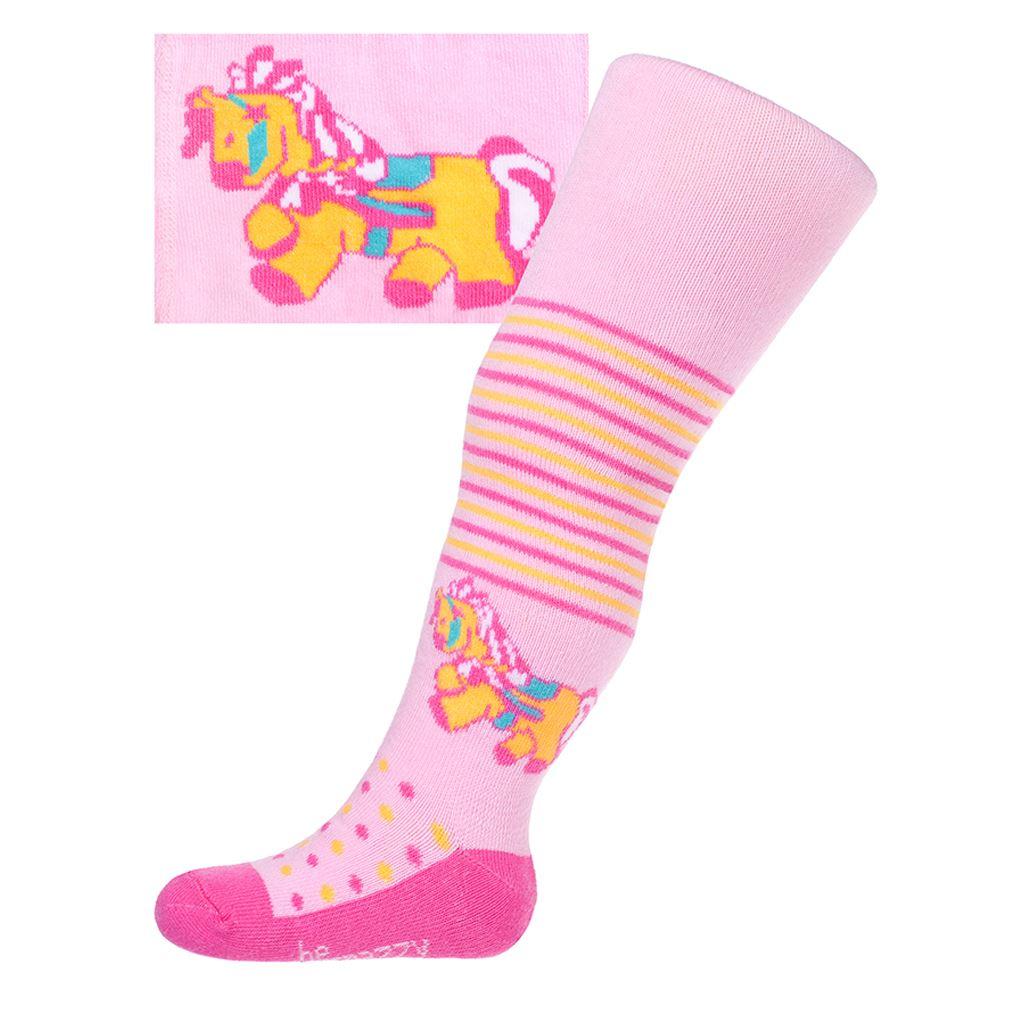 Bavlnené pančucháčky New Baby ružové s koníkom