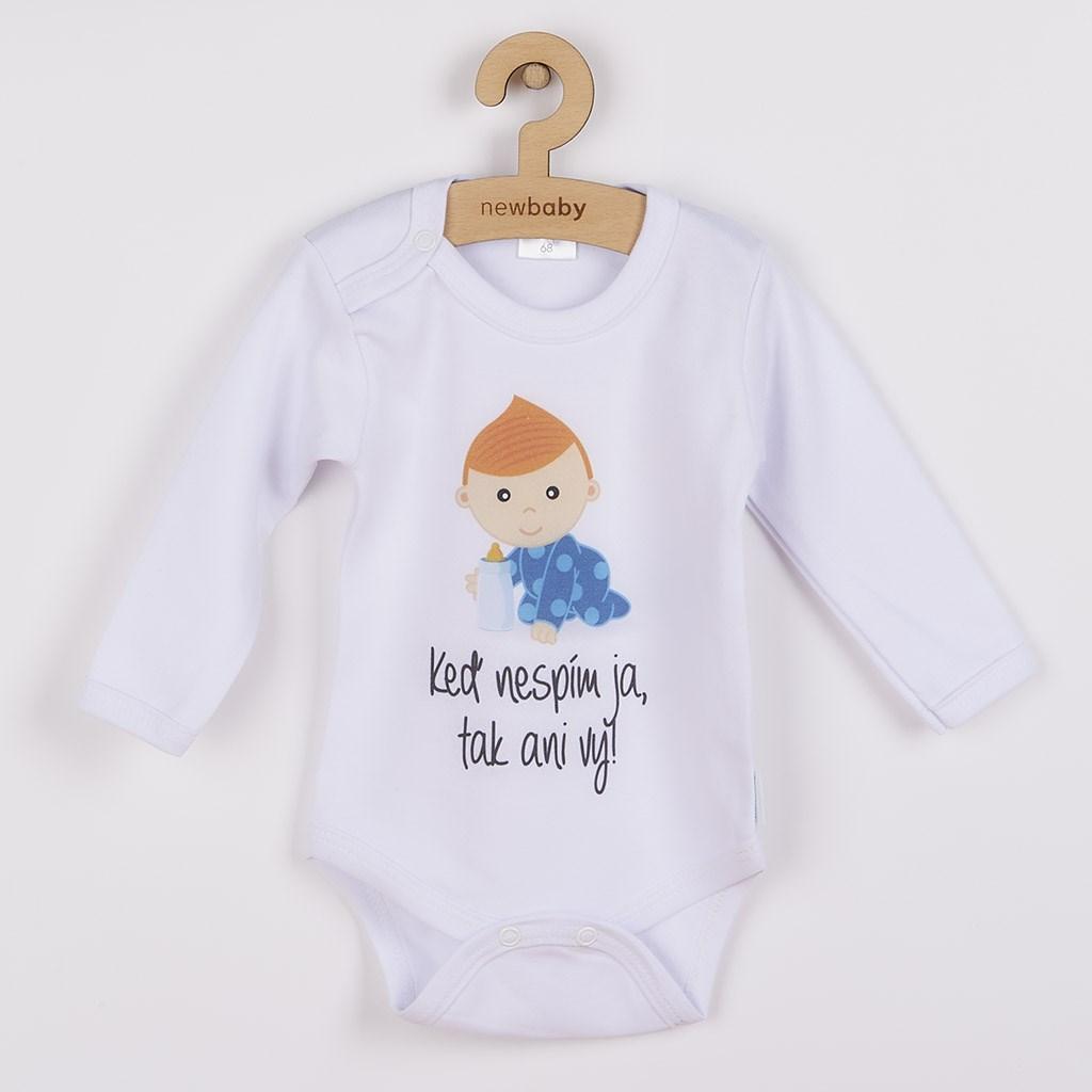 Body s potlačou New Baby Keď nespím ja, tak ani vy