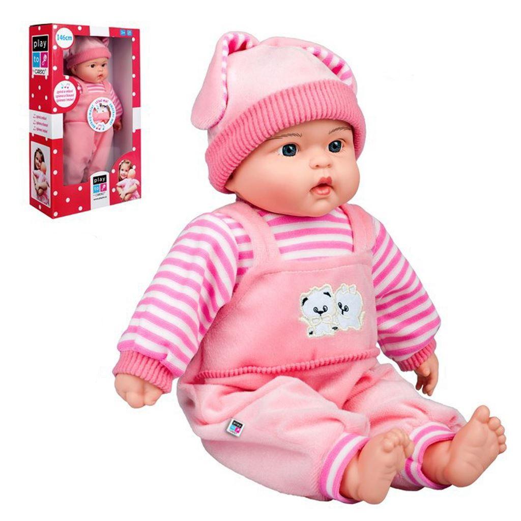 Poľsky hovoriaca a spievajúca detská bábika PlayTo Agatka 46 cm, Ružová