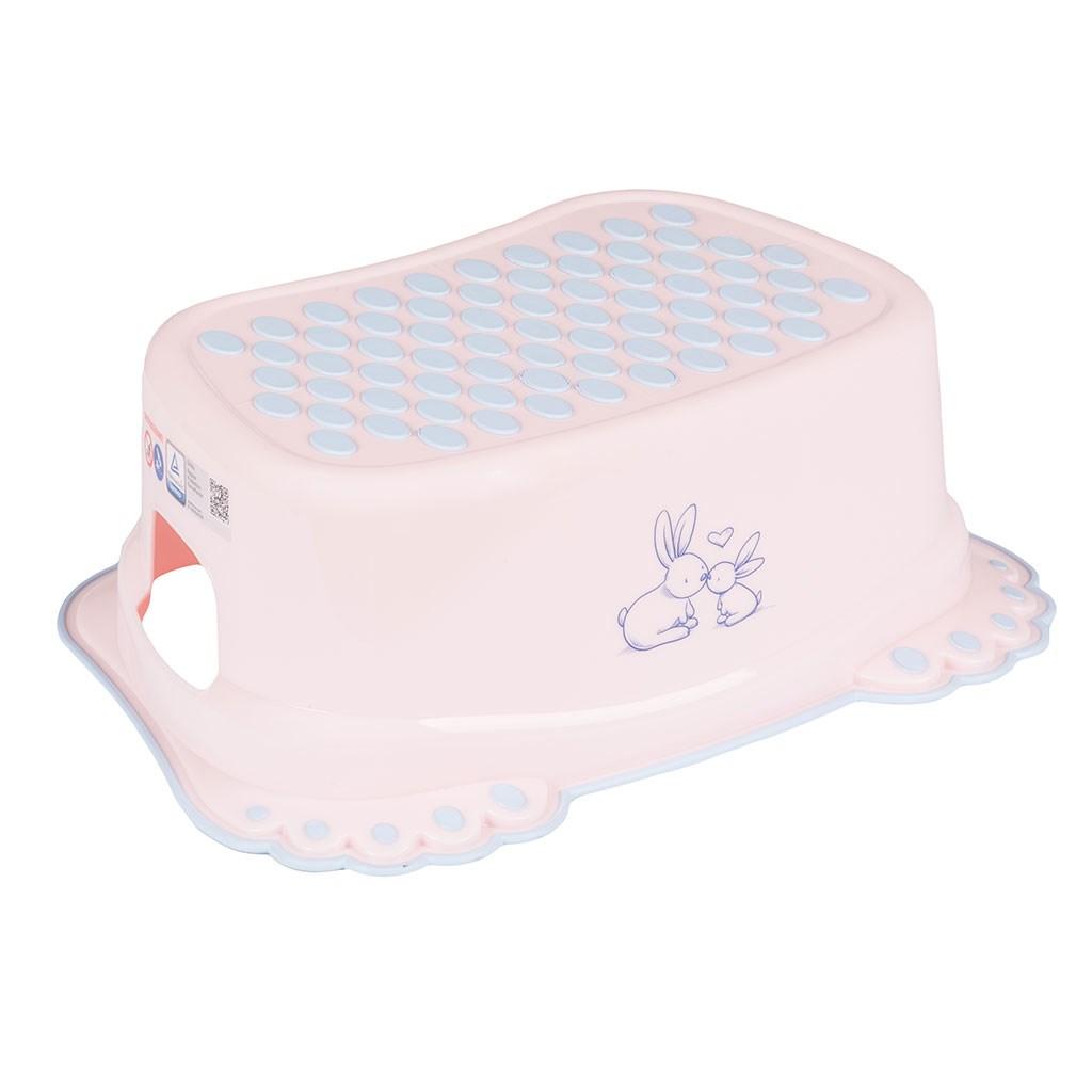 Detské protišmykové stúpadlo do kúpeľne Bunny ružové