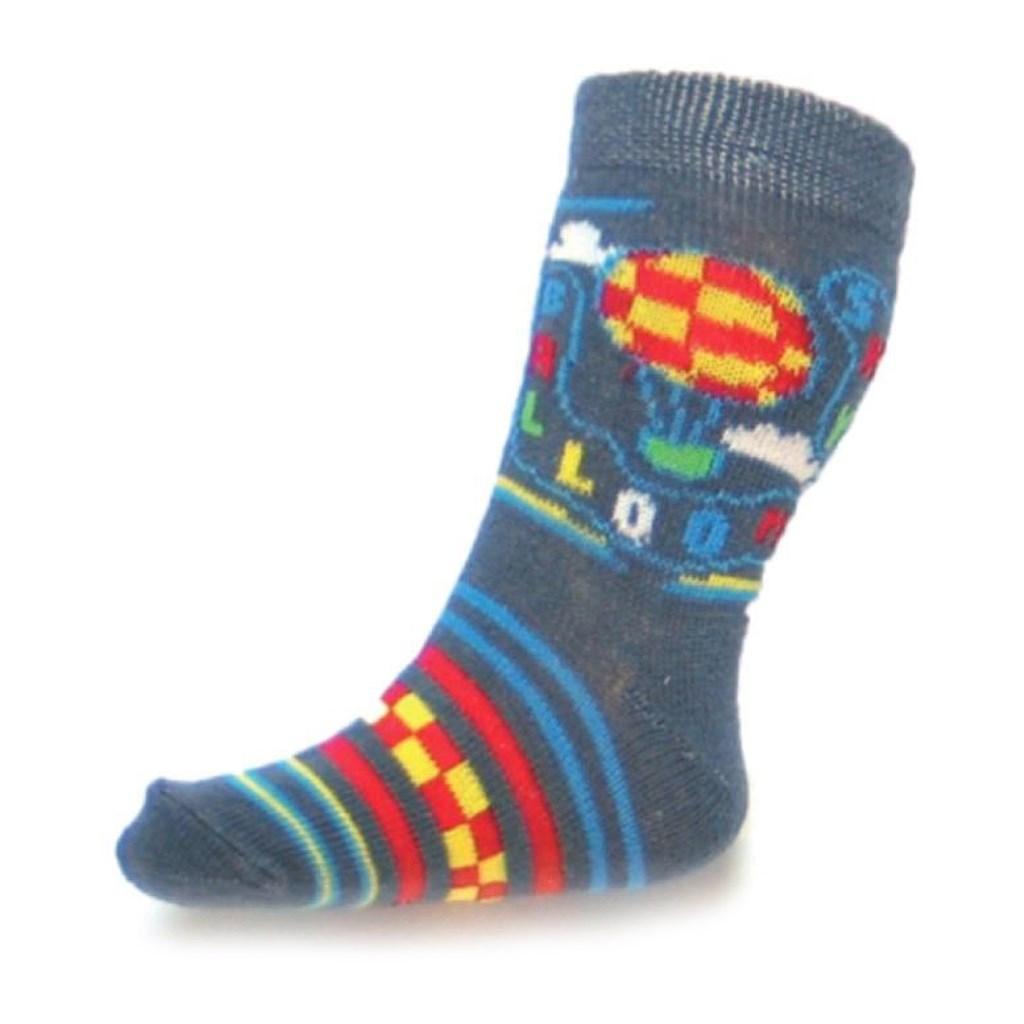Dojčenské bavlnené ponožky New Baby sivé sky baloon-62 (3-6m)