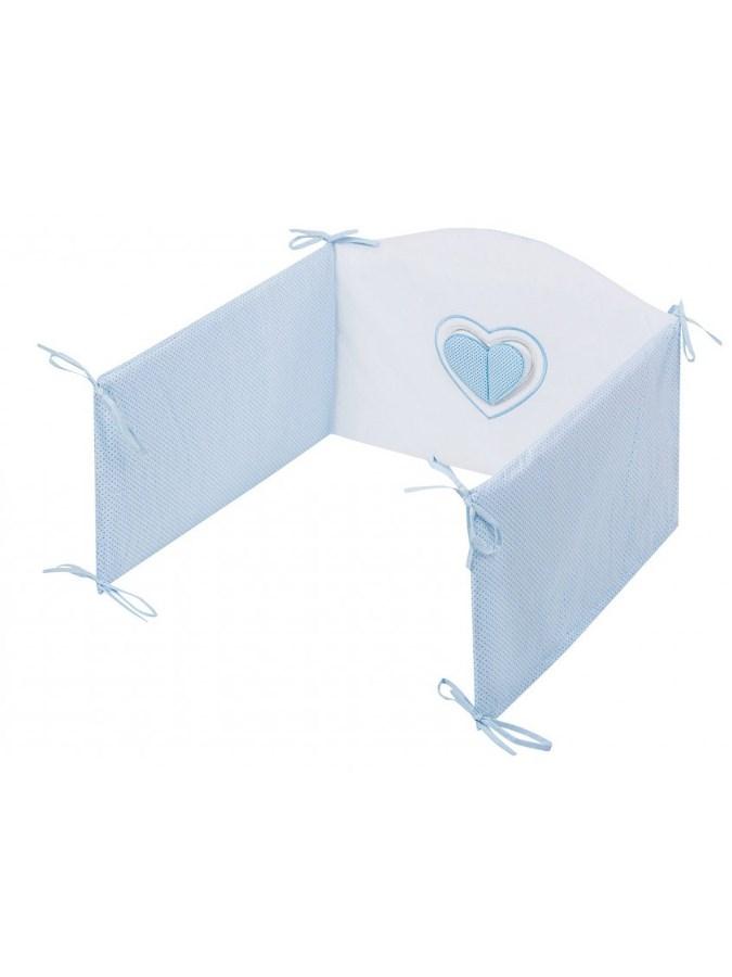 5-dielne posteľné obliečky Belisima Tri srdcia 100/135 bielo-modré