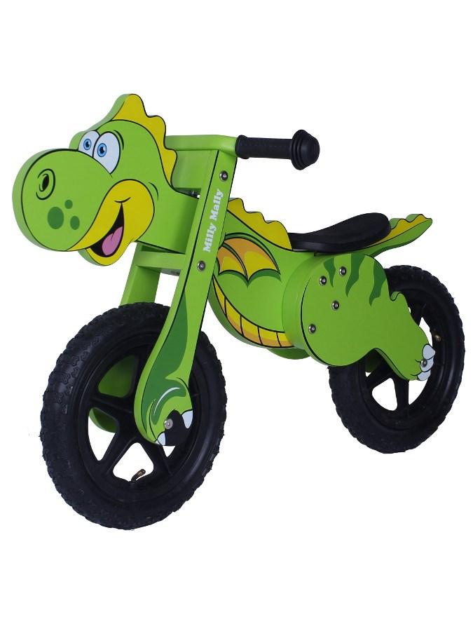 Detské odrážadlo-bicykel Milly Mally DINO green
